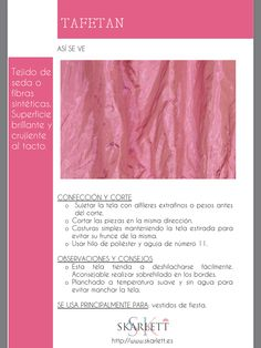 El dossier de las telas Skarlett Textile Texture, Fabric Textures, Sewing Hacks, Sewing Projects, Fashion Terms, Sewing School, Fashion Dictionary, Fashion Vocabulary, Sewing Studio