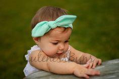 Nouez le serre-tête, bandeau fille bébé, bandeau turban, bandeau de menthe, boucles pour bébé, serre-tête, bandeau fille, noeud Bow, bébé