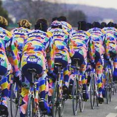 A flashy jersey is cool !!! #mapei#cyclejersey#colnago #fashioncyclist