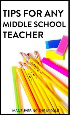 Tips and ideas for middle school teachers of any content! Great ideas for classroom management, classroom organization, building community, and other middle school ideas!   maneuveringthemiddle.com