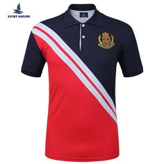 1fddc93f1940d Ralph Lauren Pas Cher · LUCKY SAILING Striped Two Button Polo Shirts Polo  Shirt Brands