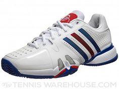 adidas Barricade 7 Novak White/Blue/Red Men's Shoe