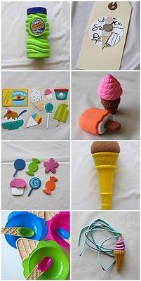 WhiMSy love: Ice Cream Birthday Party! Favor Bags & Games