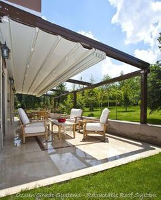 The wooden pergola is a good solution to add beauty to your garden. If you are not ready to spend thousands of dollars for building a cozy pergola then you may devise new strategies of trying out something different so that you can re Diy Pergola, Retractable Pergola, Pergola Canopy, Pergola With Roof, Wooden Pergola, Outdoor Pergola, Covered Pergola, Pergola Shade, Patio Roof