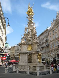 Pestsäule, Vienna, Austria. The most beautiful monument to a plague I've ever seen.