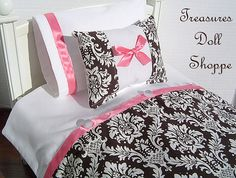 AMERICAN GIRL Doll Bedding 4 Pc Set