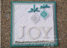 Joy Christmas Card with Mosaic Madness