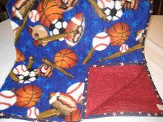 Baby Blanket, Sports, Football, Baseball, Soccer, Quilted, Bedding, Throw, Nursery Bedding, Fleece, Flannel by DesignsbyJuliAnn on Etsy https://www.etsy.com/listing/273907768/baby-blanket-sports-football-baseball
