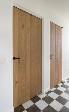 Oak interior doors Custom made wooden revolving doors. Source: De BosbekeWooden pivot doors and sliding steel doors. Glass, slim frames with rails or Pivotica hinge. Oak Interior Doors, Interior, Modern Door, Doors Interior, Scandinavian Doors, Oak Doors, Wood Doors Interior, Rustic Bathrooms, Doors Interior Modern
