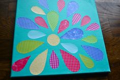 New Every Morning: Easy Mod Podge Flower Canvas Craft-cute quilt design
