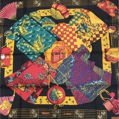 Hermes Carre 90 Scarf Stole Silk 100% KIMONOS ET INROS Japanese Women NWT Rare | Clothing, Shoes & Accessories, Women's Accessories, Scarves & Wraps | eBay!