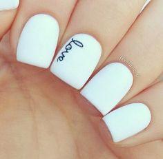 Matte love nails