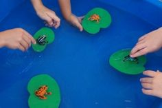 Frogs on Foam Lily pads and other pond life ideas from Greatest Resource Educational Care