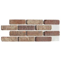 Old Mill Brick Columbia Street Thin Brick Singles – Flats (Box of – in x in sq. – The Home Depot Old Mill Brick Columbia Street Thin Brick Singles – Flats (Box of – in x in sq. – The Home Depot Brick Paneling, Brick Tiles, Faux Brick Backsplash, Wood Tiles, Marble Tiles, Thin Brick Veneer, Brick Veneer Siding, Stone Siding, Stone Veneer