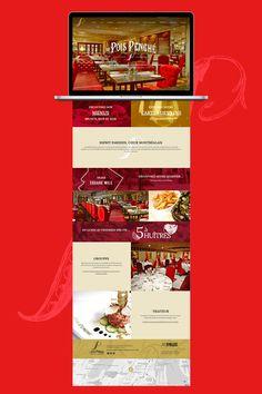 Site web du restaurant Le Pois Penché. Web design