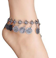 Medallion Charm Ankle Bracelet