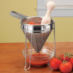 Shop Norpro 3-Piece Chinois, Stand and Pestle Set at CHEFS.