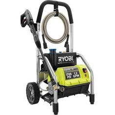 The Reconditioned Ryobi psi Pressure Washer is engineered to handle even your toughest jobs. With a powerful 13 Amp Electric Motor, this Ryobi Pressure Washer delivers psi of force for quick Best Riding Lawn Mower, Ryobi Tools, Washer Pump, Cord Storage, Ceiling Fan With Remote, Thing 1, Roll Cage, Outdoor Living, Home Appliances