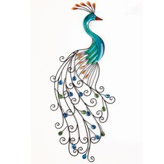 Metal Peacock Wall Art | Home Decor | Brylanehome