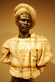 """Charles Cordier, """"Negro of the Sudan"""" from the Minneapolis Institute of Arts.same title, same pose, different onyx Minneapolis, Authors, Amanda, Faces, Culture, Statue, Detail, History, Art"""
