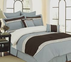 8pc Bed-in-a-Bag Wly Blue Comforter Set | Home Goods Galore