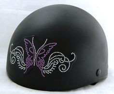 Blinged Motorcycle Helmet - easy stick on patch