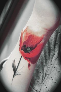 Love watercolor tattoos, if I did take the plunge and get inked I would want one, on my ribcage or shoulder.