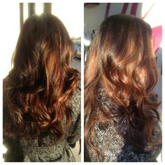 Dark brown to caramel organic ombre by #hannahmurray #studiobesalon #ombre