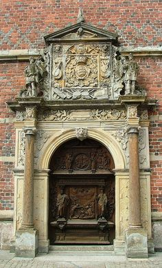 Royal Entrance to the chapel at Frederiksborg Castle, Hillerod, Denmark~