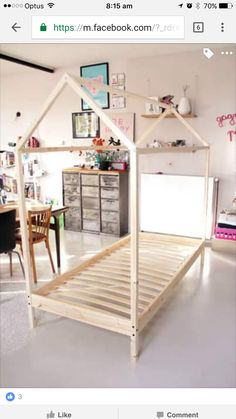 9 DIY Toddler Bed Ideas - Guide to choose the right toddler bed plans Diy Toddler Bed, Toddler Rooms, Baby Bedroom, Girls Bedroom, Boy Room, Kids Room, Little Girl Rooms, Kid Beds, Kids Furniture