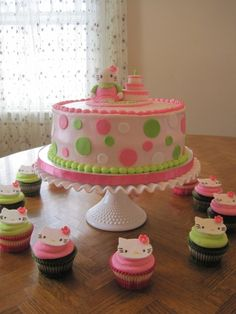 this is super cute for a little girl baby shower, but I wouldn't use the hello kitty