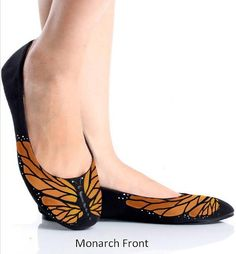 SALE  Monarch Butterfly Painted Shoes by CatherineLaPointe on Etsy, $75.00