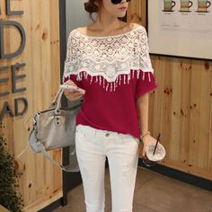 11 Colors Plus Size 2018 Blusas Femininas Casual Summer Blouses Tops Tee Women Hollow Crochet Shawl Collar Top Lace Blouse Shirt