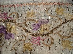 antique ottoman hand embroidered linnen - 1