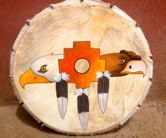 Condor and Eagle Peruvian Medicine Drum & Drumstick by LivingAltar, $350.00 https://www.etsy.com/listing/122140952/condor-and-eagle-peruvian-medicine-drum?ref=v1_other_2