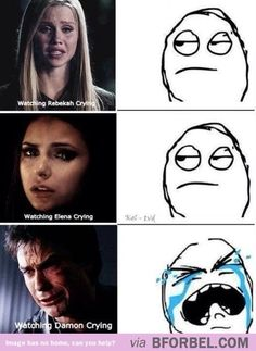"Watching ""The Vampire Diaries""…"