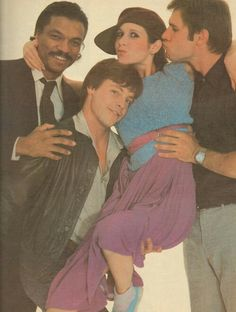 Classic: Billy Dee Williams, Mark Hamill, Carrie Fisher and Harrison Ford There so young! Classic: Billy Dee Williams, Mark Hamill, Carrie Fisher and Harrison Ford