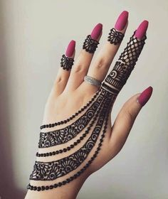 Are you looking for some simple and awe-inspiring Mehndi Designs? Take inspiration from these beautiful and easy to recreate Henna designs from our awesome collection. Henna Hand Designs, Finger Tattoo Designs, Henna Tattoo Designs, Finger Tattoos, Mehndi Designs Finger, Latest Arabic Mehndi Designs, Mehndi Designs For Kids, Stylish Mehndi Designs, Mehndi Designs 2018