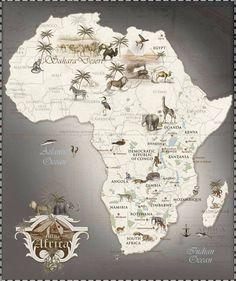Afrika Umriss Afrika Karte Umriss Outline Topographie