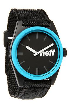 huge discount dfab1 94bca The Daily Velcro Watch in Black and Cyan by NEFF