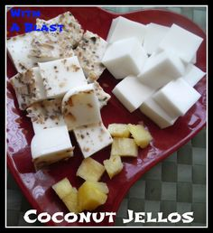 Coconut Jellos {Low-Fat !}
