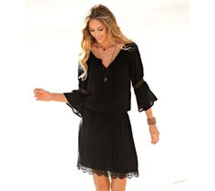 Macramé šaty | blancheporte.sk #blancheporte #blancheporteSK #blancheporte_sk #dress #saty Look Boho Chic, Lingerie, Couture, Macrame, Dresser, Cold Shoulder Dress, Fashion, Men Wear, Dress Ideas