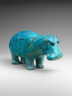 """William"" the Hippopotamus  sculpture dated from Ancient Egypt's Middle Kingdom, circa 1,961-1,878 BCE. ""William"" is the unofficial mascot of the Met."