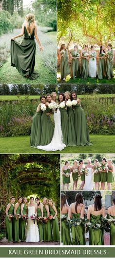 kale green bridesmaid dresses for 2017 spring and summer