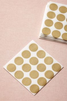 Circles-Meet-A-Square Napkins, Cocktail (20) from BHLDN