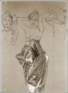 Alphonse Mucha Sketches