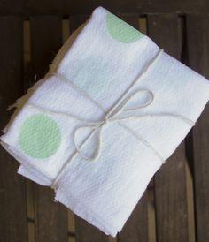 DIY Birdseye cotton flat burp cloths