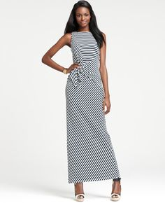 Ann Taylor Stripe Tie-Waist Maxi Dress.  Oh my I love this dress