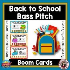 These 26 digital task cards on the BOOM Learning™ website are fun, educational and engaging activities to reinforce the concept of BASS PITCH! Each card gives the student one bass note to identify. This game uses both bass lines and spaces. The pitches used are all notes on the lines and spaces from F below the staff to middle C above the staff. ♫ ♫ #musiceducation #musicteacherresources #mtr #boomcardsformusic #boomcards Music Teacher Resources