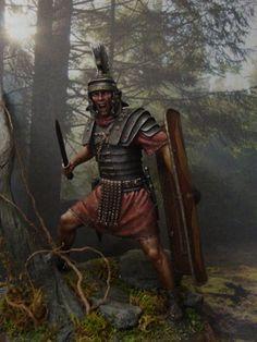 Optio Romano - Gallia I-II sec. - Virtual Museum of Historical Miniatures Rome History, Ancient History, Art History, Military Art, Military History, Imperial Legion, Soldier Tattoo, Roman Centurion, Ancient Armor